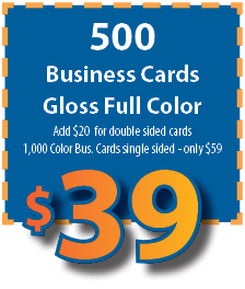 500 Business card special $39.95