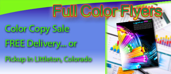 Flyers Color Copies Printing Denver